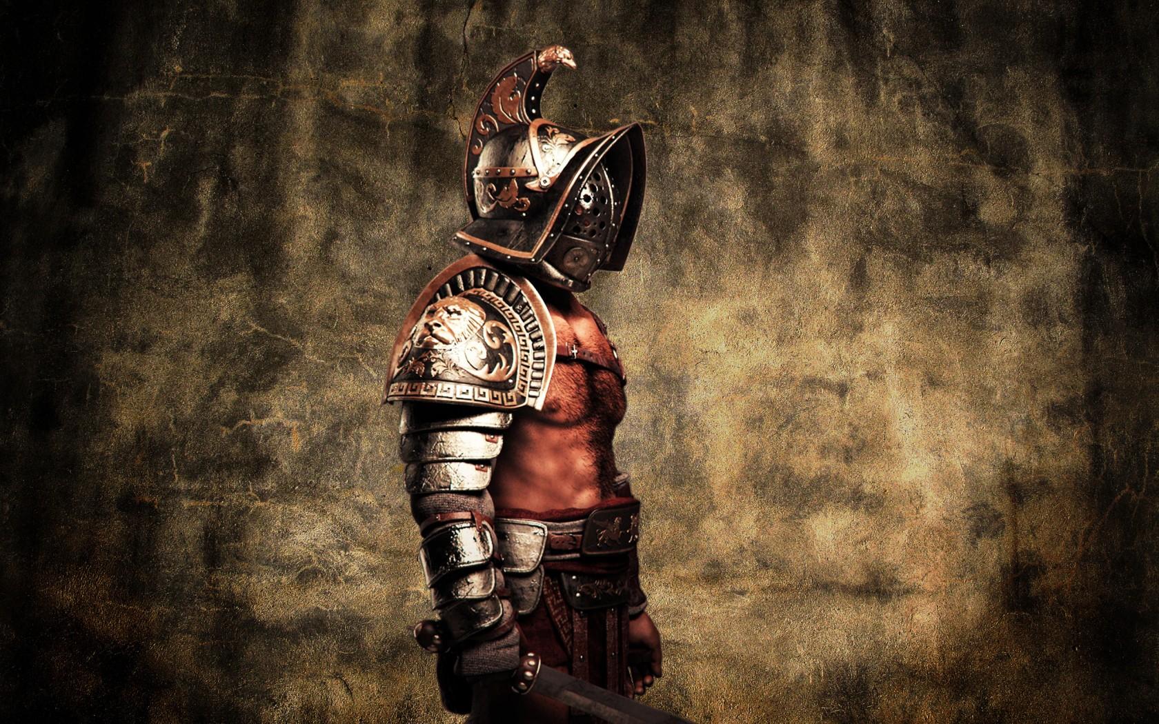 пот мускулистых, сильных, и пахнущих гладиаторов